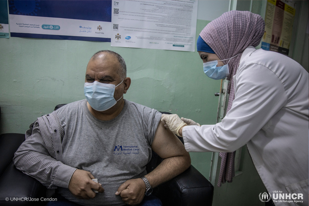 First refugees receive COVID-19 vaccinations in Jordan